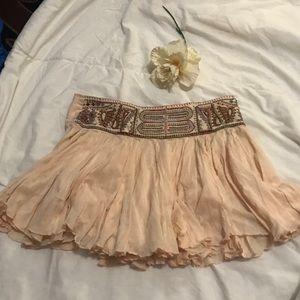 Free People layered mini skirt